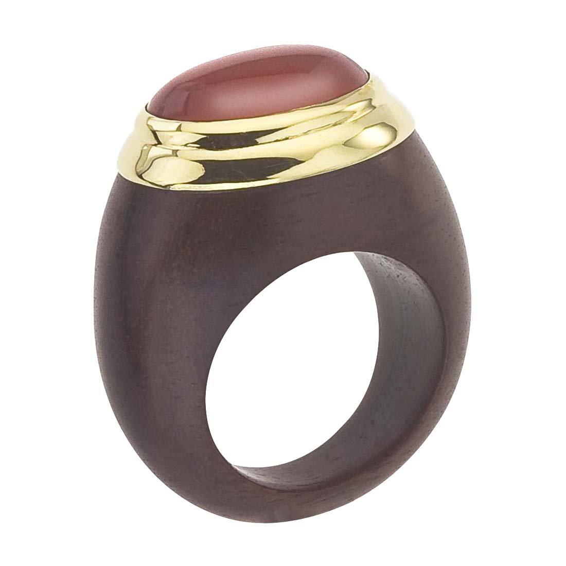 AX Jewelry 18K Vermeil, Rosewood & Carnelian Ring (7.5)