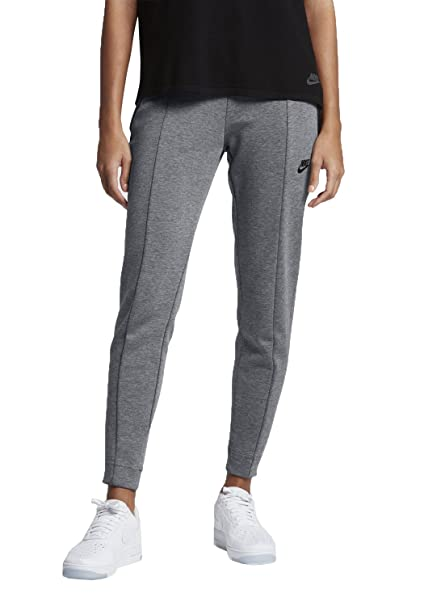 4d6b83f4501f Image Unavailable. Image not available for. Color  Nike Women s Sportswear Tech  Fleece Womens Pants Style 803575 (Carbon Heather Black ...