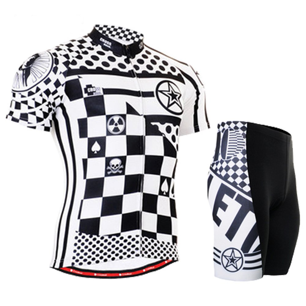 Cycling MTB Motorcycle Workout Modern Grid Compression Sportwear Short Suit Y72