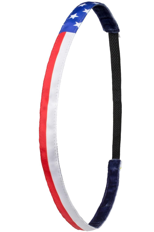 | One Size Das Anti-Rutsch Haarband USA Love Ivybands /® Rot Weiss Blau Sterne Amerika, IVY805 1,2 cm Breite