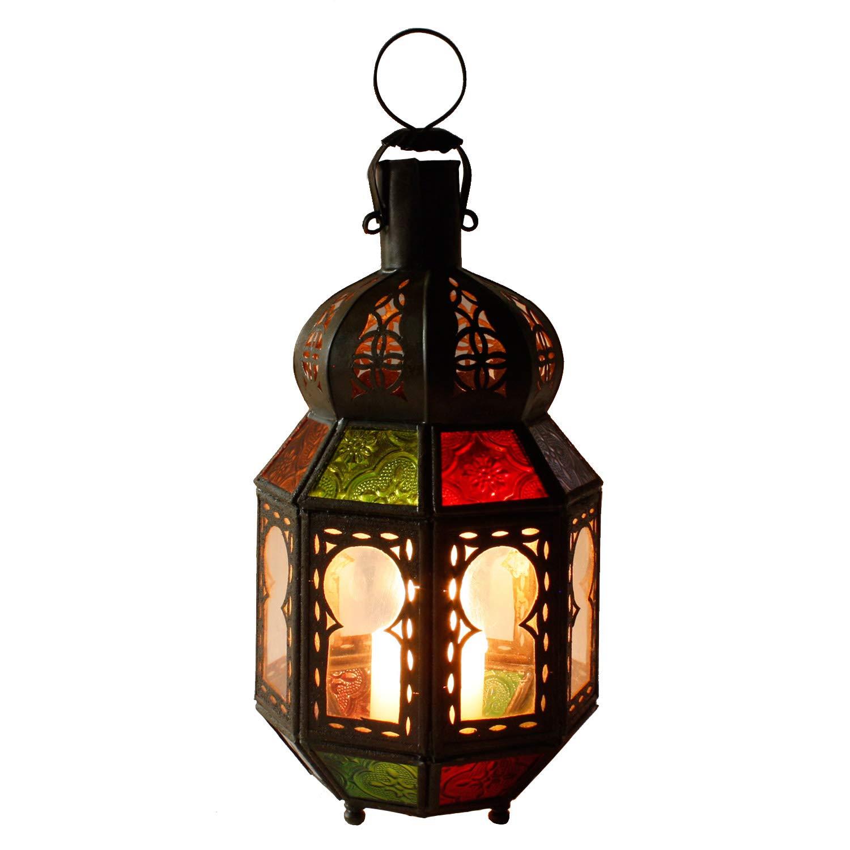 Orientalische Gartenlaterne buntes Gartenwindlicht Windlicht Laterne Tamani