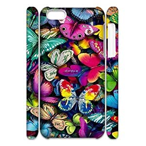 Beautiful butterfly Customized 3D Case for Iphone 5C, 3D New Printed Beautiful butterfly Case