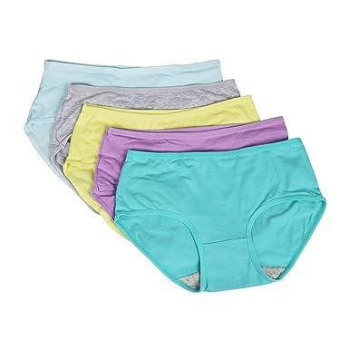 Wenyujh Femmes Lot de 5 Slips Respirant Sexy Culotte Lingerie  sous-Vêtements Confortable Souple en 8ad37f4a9f5