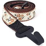 CLOUDMUSIC Ukulele Strap Button Free Hawaiian Floral Ukulele Strap with Hook Clip On For Soprano Concert Tenor Ukulele…