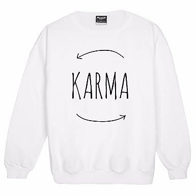 """Sudadera para mujeres con mensaje """"Karma"""" ..."""