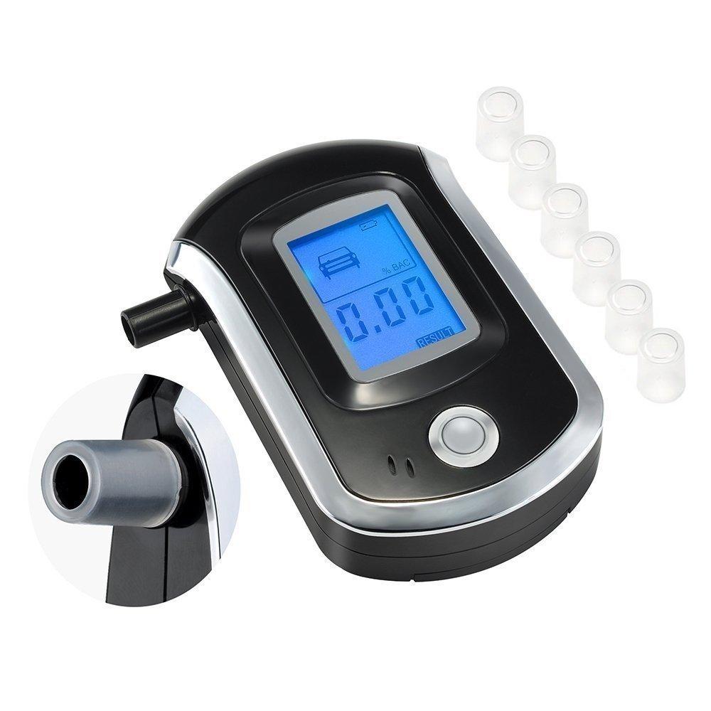 Alcoholímetro Digital Portátil Pantalla LCD Prueba Alcohol Tester Detector Boquillas Recambio Blow Soplar, Electrónica Rey® Electrónica Rey® ##h02##
