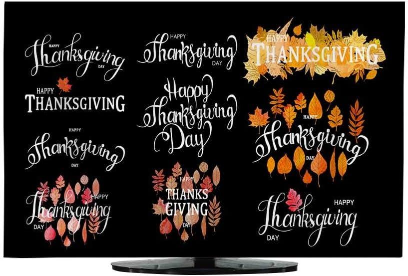 Funda de TV para Exteriores, Hecha a Mano, para otoño, otoño, acción de Gracias, Bonitas Etiquetas de Dibujos Animados, Tarjetas de felicitación: Amazon.es: Electrónica