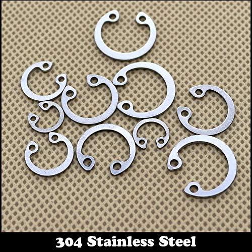 Ochoos M20 M22 304 Stainless Steel 304SS DIN472 Spring Washer C Type Snap Retaining Ring for OD 20mm 22mm Internal Bore Shaft Circlip Inner Diameter: 25Pcs M20