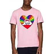 05972eda6e6f Gemijack LGBT Shirts Gays Lesbian Pride Pansexual Rainbow Heart Flag T  Shirts Graphic Tees