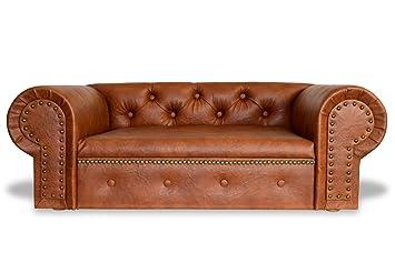 Perro sofá cama para perros EDY de Ohio Lux XL Piel Sintética Chesterfield Antiguo sofá: Amazon.es: Productos para mascotas