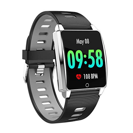 Amazon.com: Geetobby Bluetooth Smartwatch for Heart Rate ...