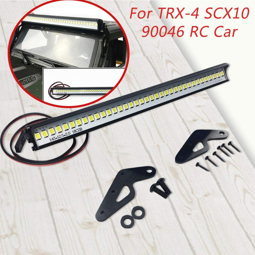 Ketteb Long Lasting for Sale 1/10 Crawler Accessory Roof LED Lamp Bar for Traxxas TRX-4 SCX10 90046 Crawlers