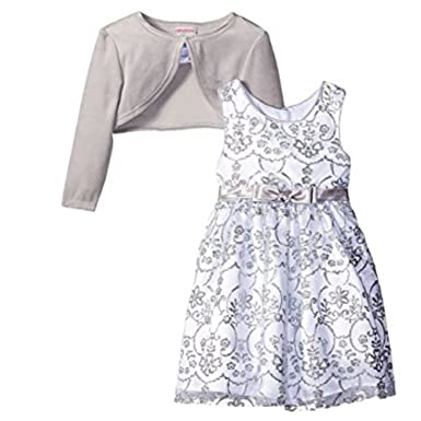 Youngland Youngland Princess Petticoat Kleid mit silber Samt Bolero ...