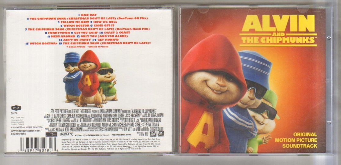 ALVIN AND THE CHIPMUNKS - ALVIN AND THE CHIPMUNKS - ALVIN AND THE ...