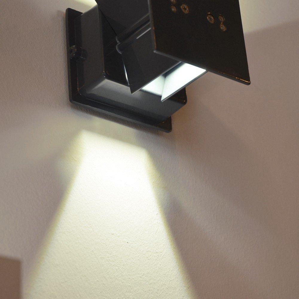 S.LUCE Ixa LED Wandleuchte mit zwei verstellbaren Winkel Aussen-Wandlampe Chrom, Up&Down Fassadenleuchte Up&Down Chrom, Lichteffekte, Flurlampe Treppenhausleuchte Wohnzimmerlampe 8207b2