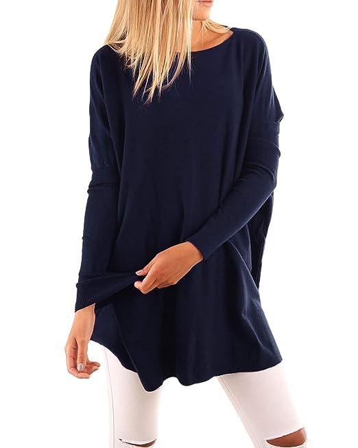 ACHIOOWA Mujer Camisetas Mujer Manga Larga Suelto Camisetas de Mujer de Moda Casual Camiseta Mujer Playa Oficina Noche: Amazon.es: Ropa y accesorios