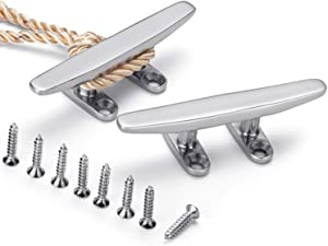 ZOMCHAIN Boat Cleat Open Base Boat Cleat, Dock Cleat All 316 Stainless Steel Boat Mooring Accessories, Free Installation Accessories Screws