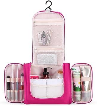Trousse de Voyage Pliable AGPTEK, Trousses de Toilette à Maquillage Imperméable avec Crochet et Poignée Carré Sac Cosmétiques pour accessoires de