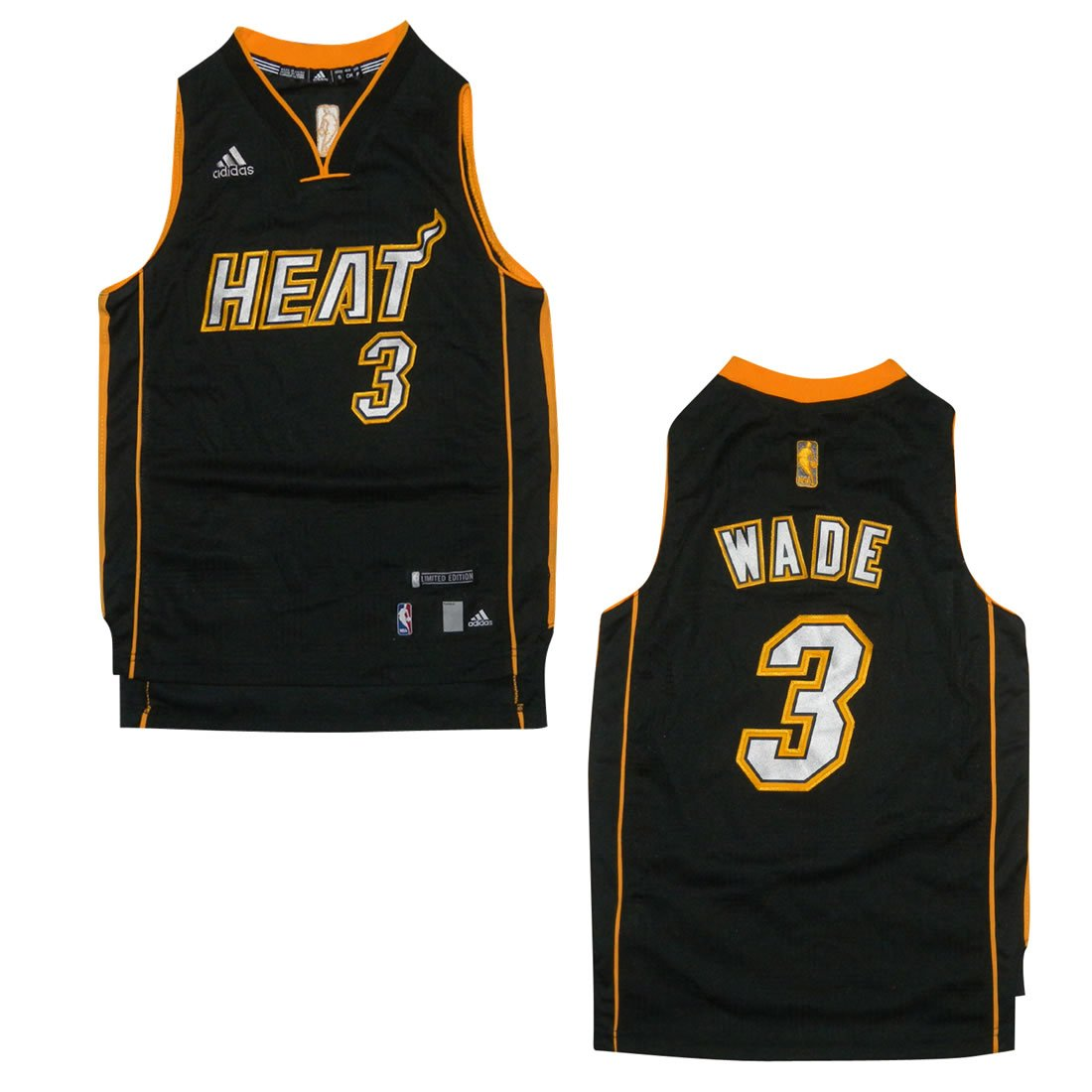 pretty nice 5fe13 9a077 LIMITED EDITION: YOUTH NBA Miami Heat Wade #3 Pro Quality ...