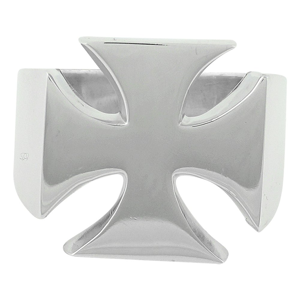 Traditional Iron Cross Ring Sterling Silver 925 Size 11