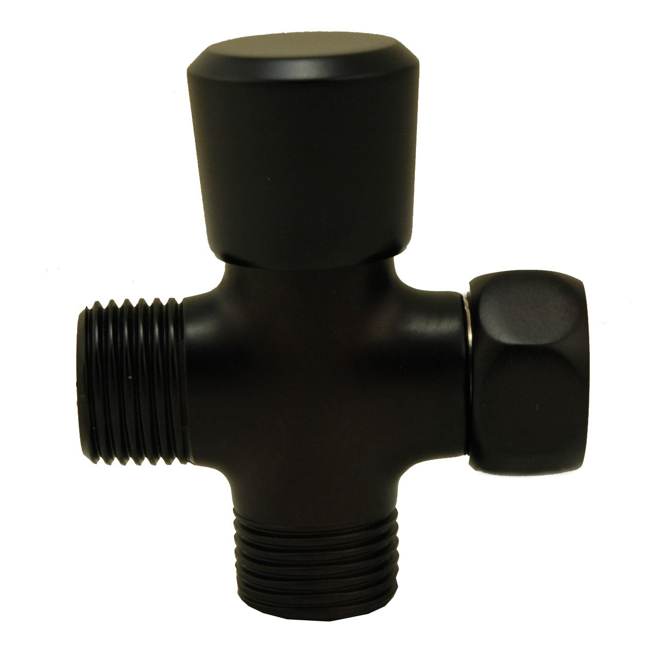 Shower Flow Diverter, Made of Solid BRASS with BRASS Handle - By Plumb USA … (Oil Rubbed Bronze)