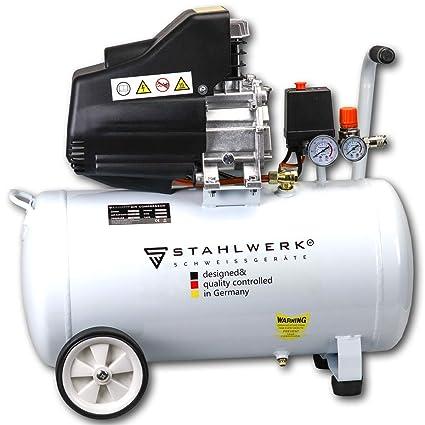 STAHLWERK ST 558-55L - Compresor de aire (8 bar, lubricado al aceite ...