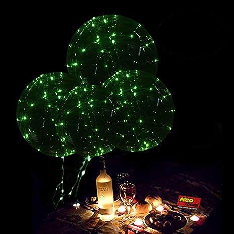 Amazon.com: Luz LED de hasta globos, 18 inch helio LED bobo ...