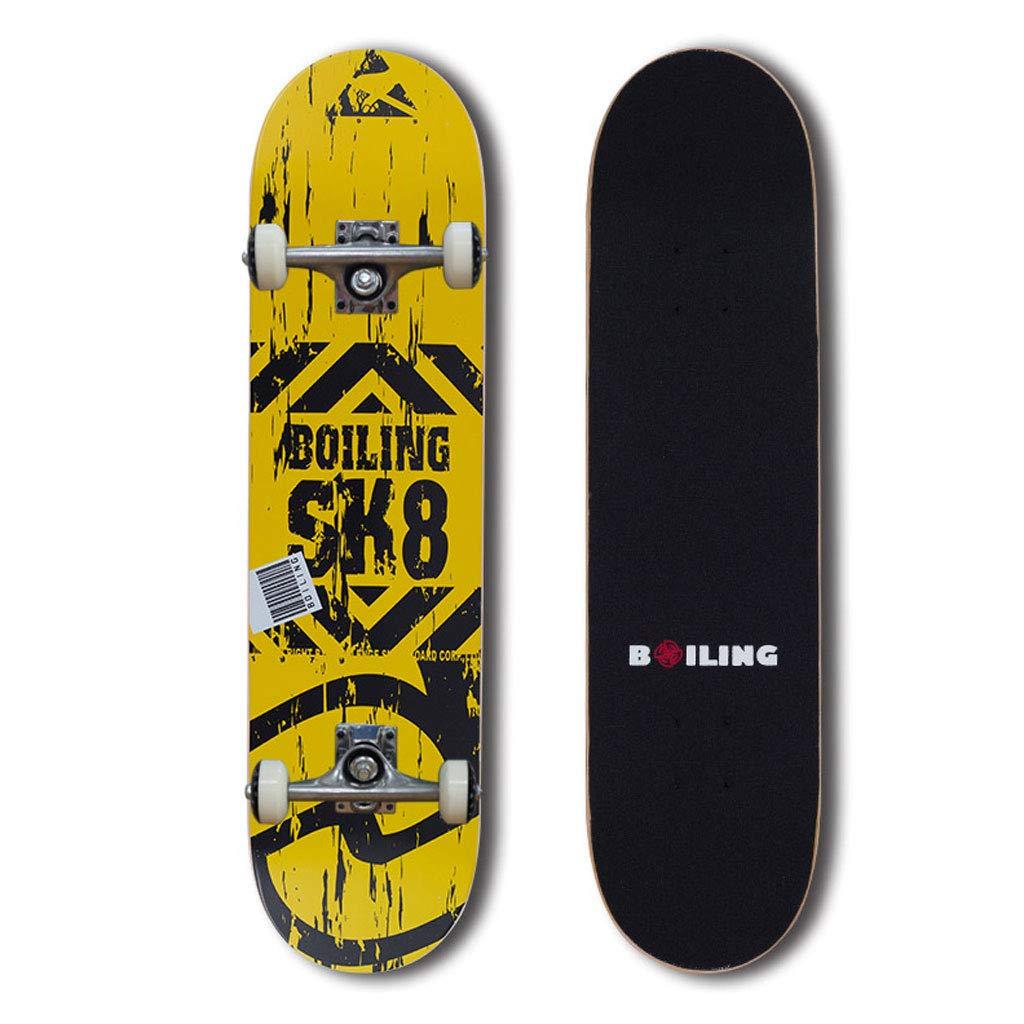 有名ブランド Weiyue スケートボード- スケートボードプロボードアダルトスクータービギナーアダルトティーン (色 : (色 E スケートボード- B, サイズ さいず : 80X19X8CM) B07MBL2WNR 80X19X8CM E E 80X19X8CM, 日向市:08899e75 --- a0267596.xsph.ru