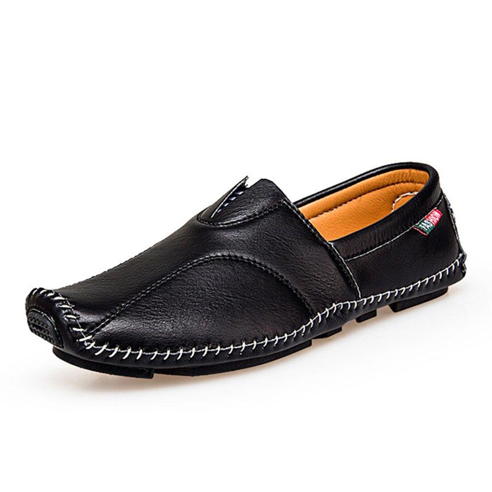 Herren Schuhe Mikrofaser Leder Faule Schuhe Frühjahr/Herbst Komfort Loafers  SlipOns Herren Casual/Outdoor Fahr Schuhe/Wanderschuhe (Farbe : Ein  Größe : 39) EIN