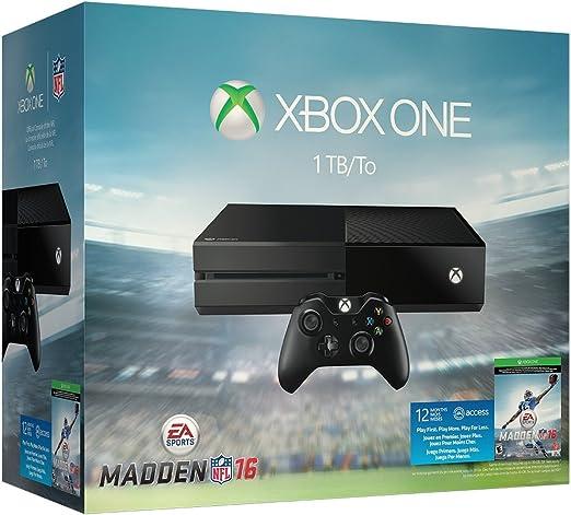 Microsoft Una consola Xbox 1 TB - EA Sports Madden NFL 16 Bundle ...