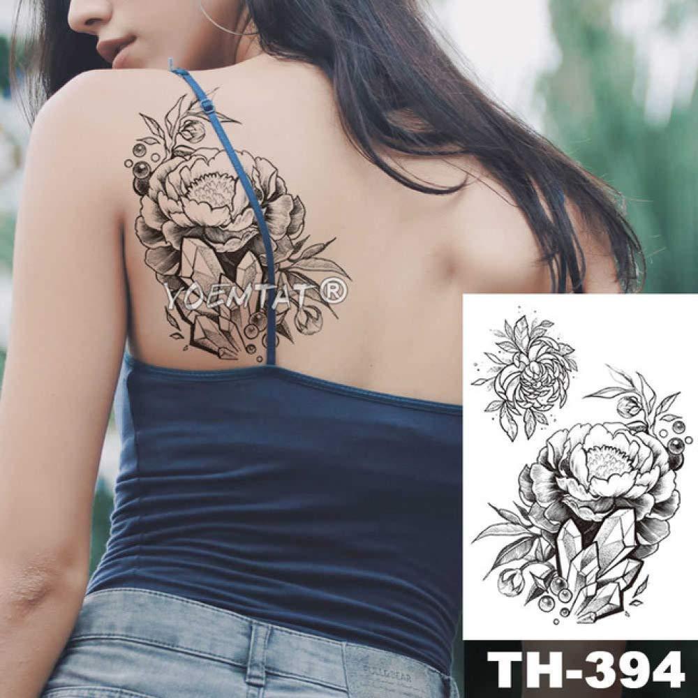 Modeganqing 5 Piezas Impermeable Tatuaje boceto Etiqueta peonía ...