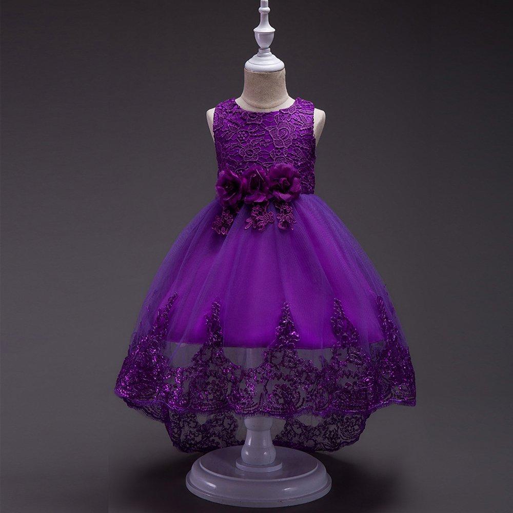 Yu Li B014HM29VO - Púrpura Vestido sin Mangas para Boda niñas, de ...