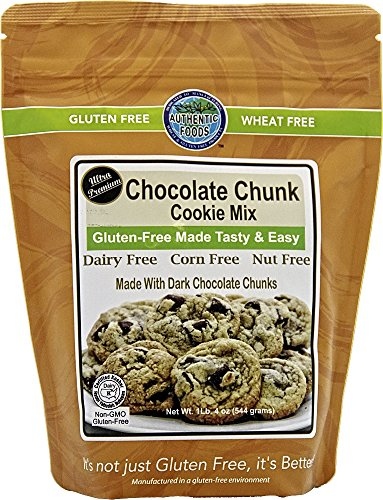 Authentic Foods Gluten Free Chocolate Chunk Cookie Mix, 1.4 Pound