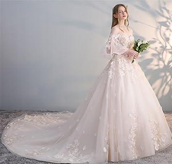ELEGENCE-Z Vestido De Novia, Temperamento Delicado Encaje Sin Tirantes Vestido De Fiesta Romántica