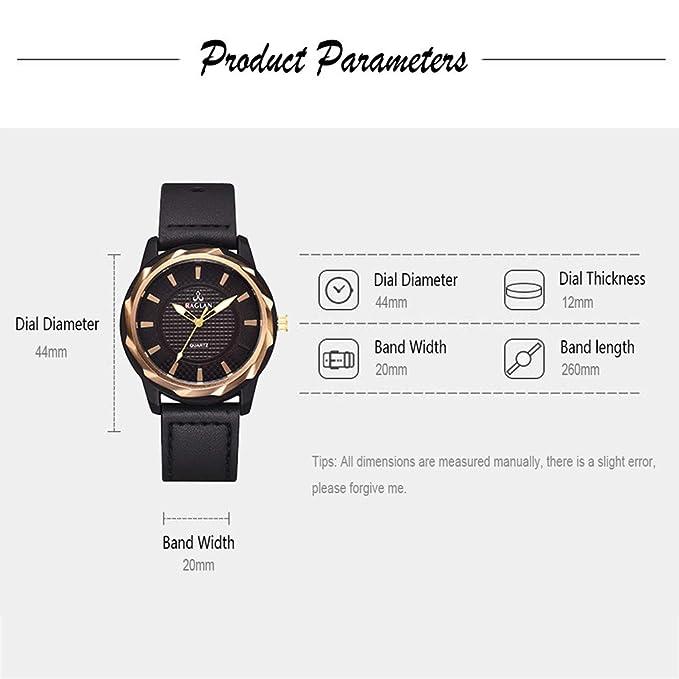 Longra Relojes de Cuarzo Elegante para Hombres de Roma/Reloj de Cuarzo para Hombres de Cuero: Amazon.es: Deportes y aire libre