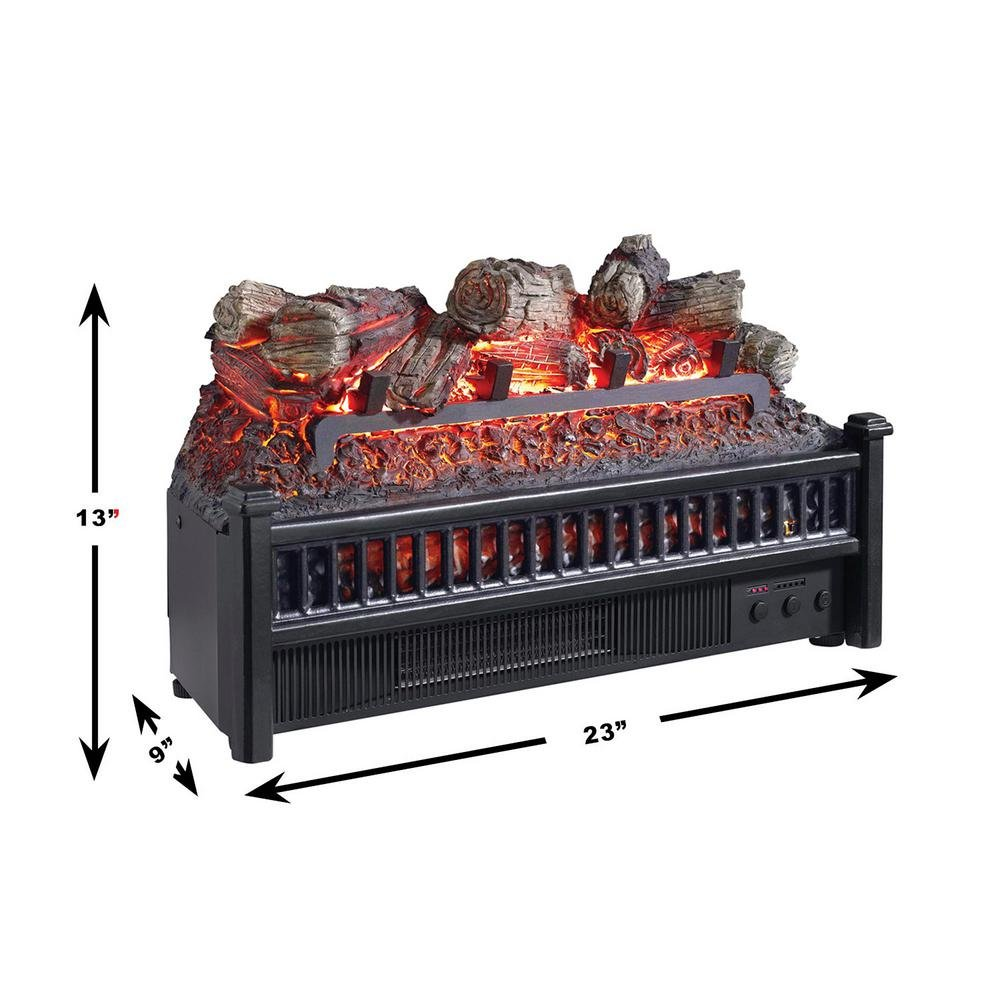 Amazon.com: Pleasant Hearth LH-24 Electric Log Insert with Heater: Home & Kitchen