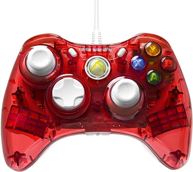 PDP - Mando Con Cable Rock Candy, Licenciado, Color Rojo (Xbox 360): Amazon.es: Videojuegos