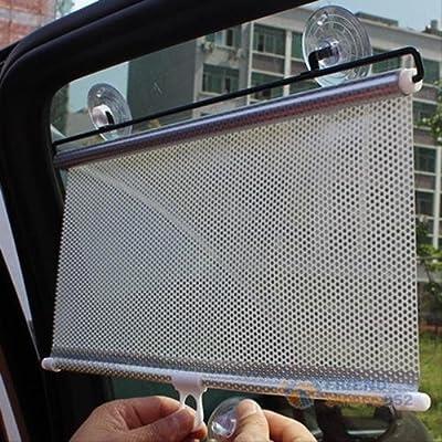 MAZIMARK--Retractable Car Auto Sun Shade Block Windshield Rear Window Mesh Curtain Visors
