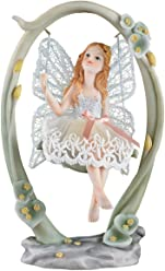Fairy Sitting on Swing Collectible Figurine Tabletop Sculpture Gift