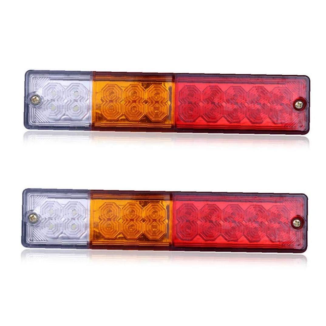 Pack Of 2LED Clearance Side Marker Turn Light Truck Trailer 12V Aux Stop Turn Tail Light Rectangular Trailer Led Marker Lights