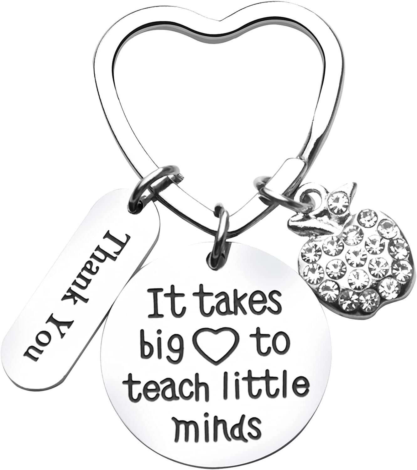 Donse Teacher Gifts from Student Gifts for Teacher Appreciation Gift Keychain:It Takes Big Heart to Teach Little Minds,Graduation Gifts for Her Women Teachers Day Christmas Birthday Thanksgiving