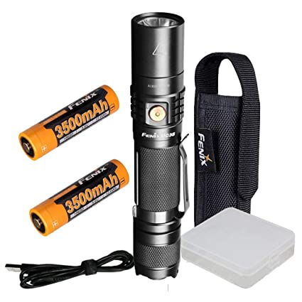 Fenix UC35 V2.0 2018 Upgrade 1000 Lumen Rechargeable Tactical Flashlight with Two 3500mAh Battery