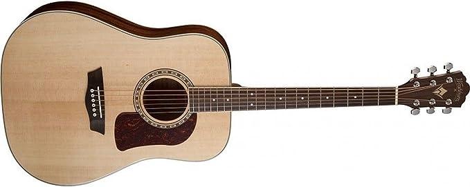 Washburn HD10S Guitarra acústica de 6 cuerdas, brillo natural ...
