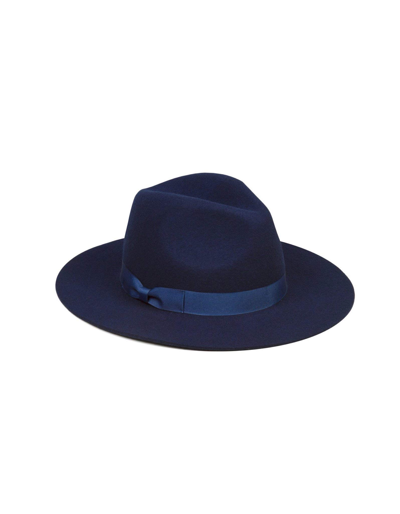 Lack of Color Women's The Nightfall Fedora Hat (SM (55 cm), Navy)