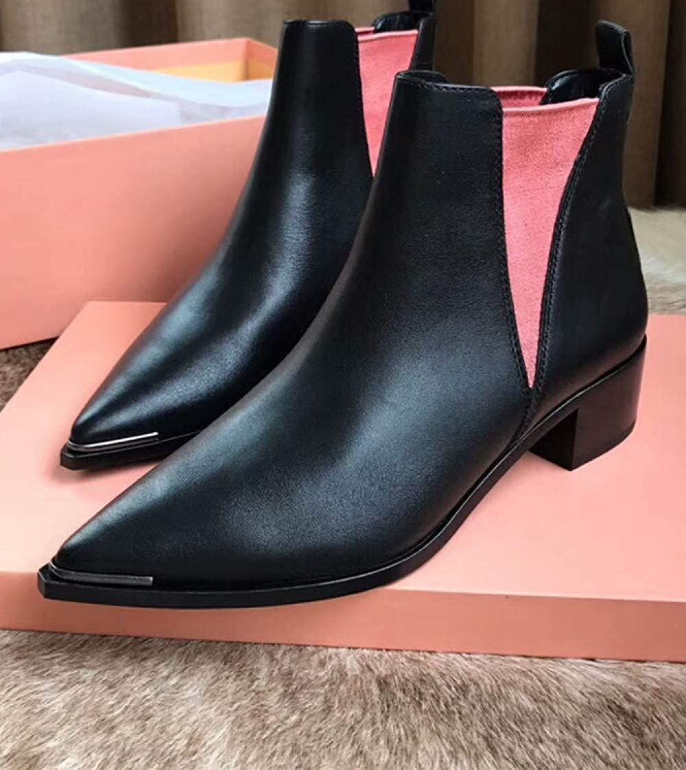Stiefelen Damen Chunky Blockabsatz Chelsea Stiefel Fashion Stiefel Stiefel Stiefel 8fbcfc