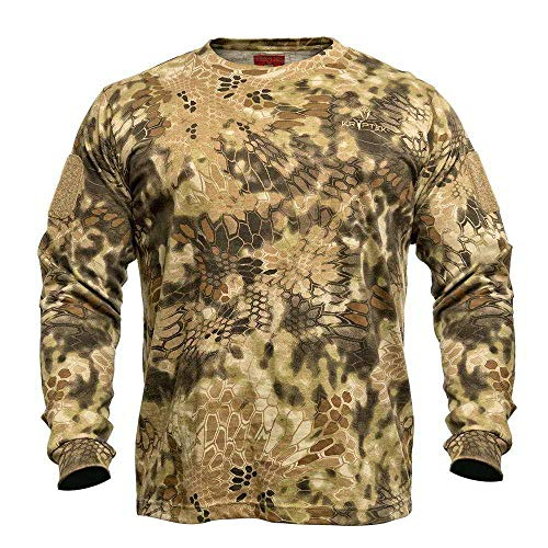 Kryptek Stalker Long Sleeve Camo Hunting Shirt (Stalker Collection), Highlander, L