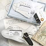56 Adorable Silver Metal Airplane Luggage Tags