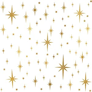 Star Wall Stickers Girls Room Wall Decals (116pcs) Sparkle Wall Sticker Stick and Peel Stars Stickers-6 Sizes