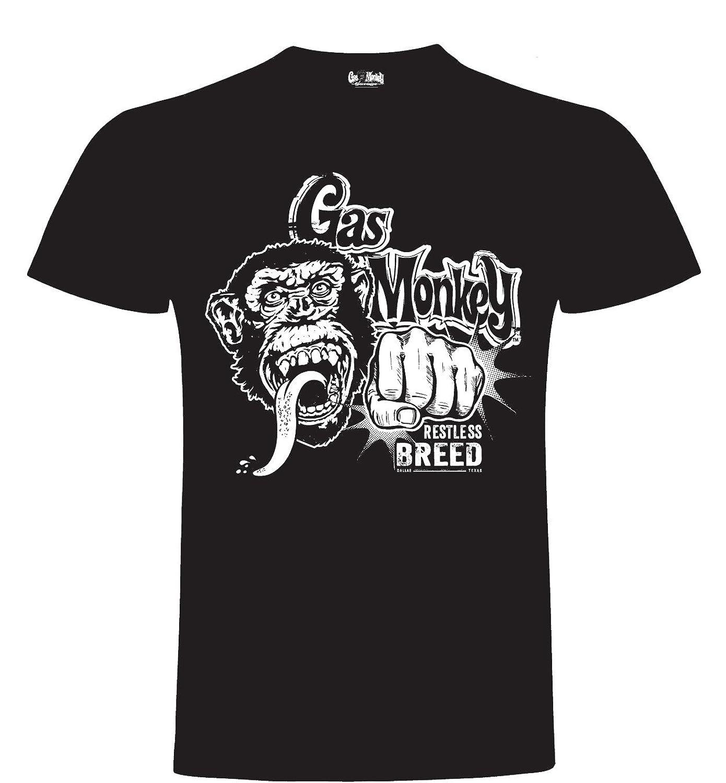 Gas Monkey Garage T-Shirt Monkey KO'S the Competition Black: Amazon.co.uk:  Clothing
