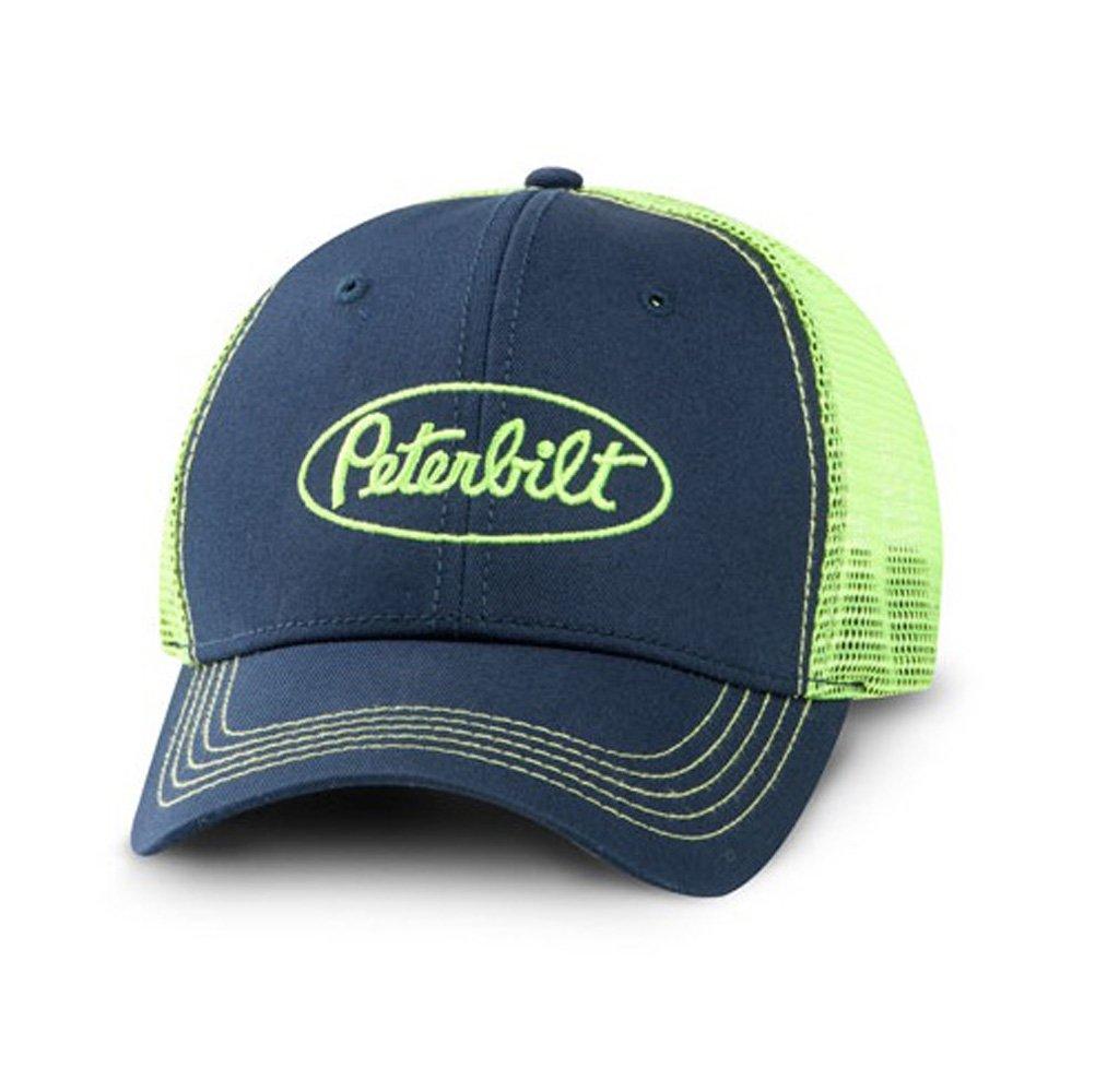 BD/&A Peterbilt Motors Trucks Neon Green Mesh Snapback Cap